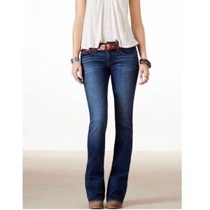 American Eagle Stretch Dark Slim Boot Jeans 4